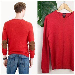 J. Crew Slim Rustic Merino Wool Suede Elbow Patch Sweater